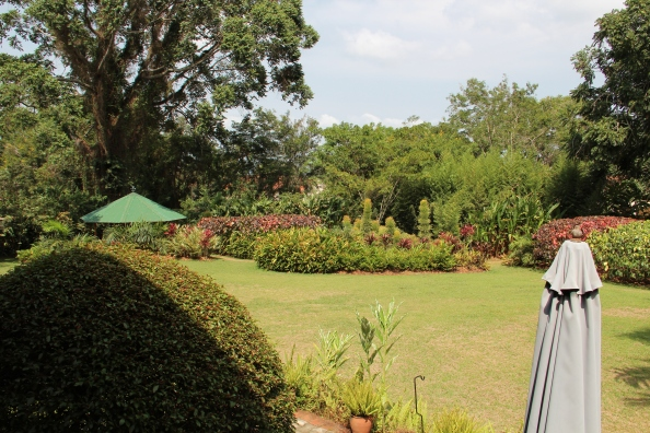 The gardens at The Boma