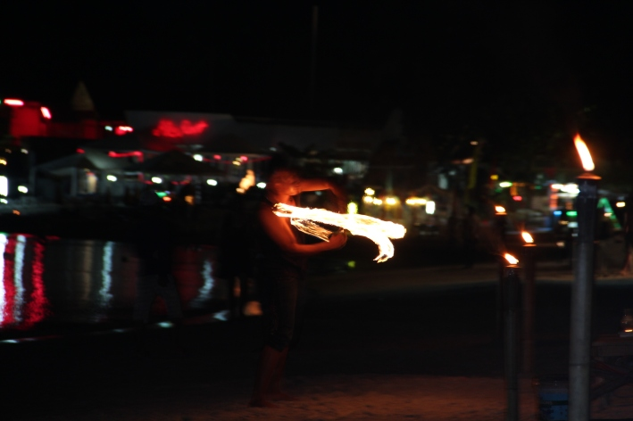 A fire juggler on Chaweng Beach, Koh Samui